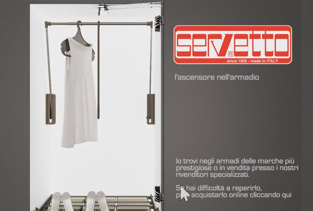 Servetto - L'ascensore nell'armadio